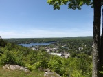 Photo of Head Lake and the village of Haliburton, Ontario, Canada as seen from Skyline Park